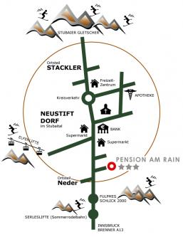 verkehrsspinne-mit-detailbereich-pensionamrain-Neustift-stubai-apartment