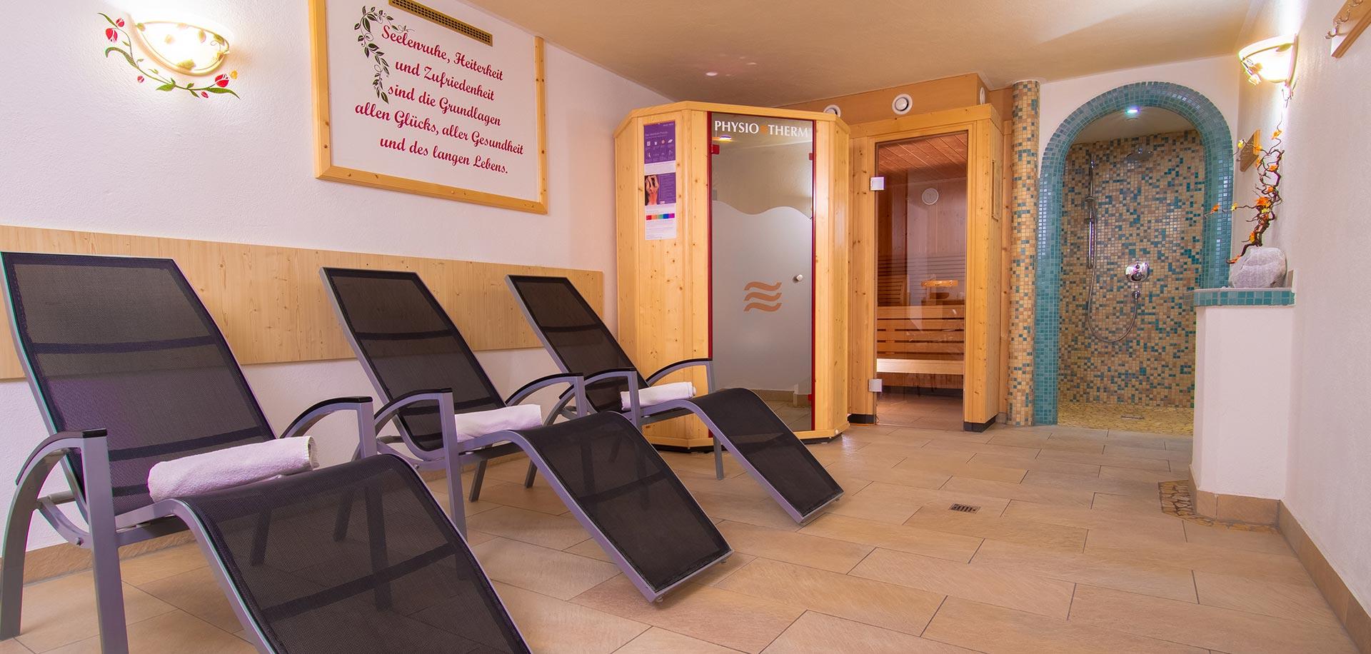 Wellnessraum - Apartments - Zimmer - Pension am Rain - Stubai